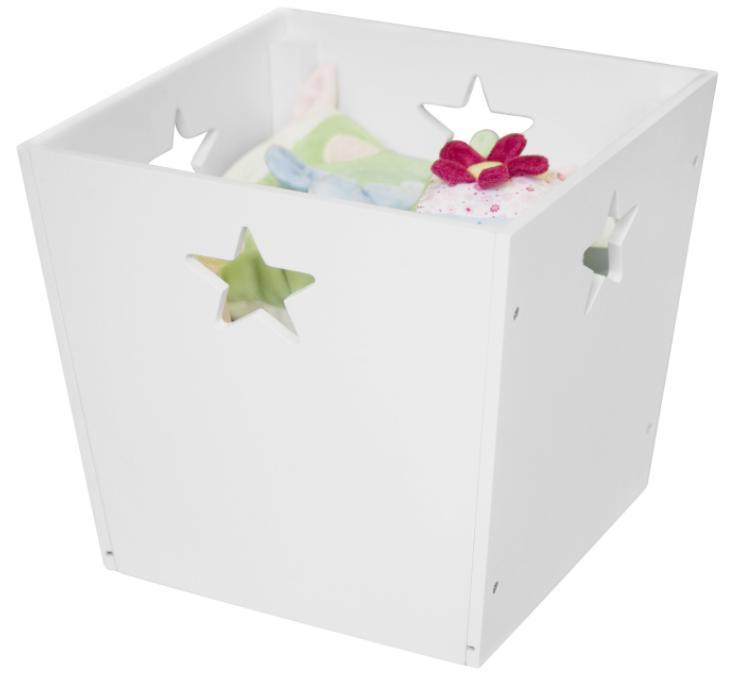 Kids concept Kids concept opbevaringskasse - hvid, 4 stk. på lager på pixizoo
