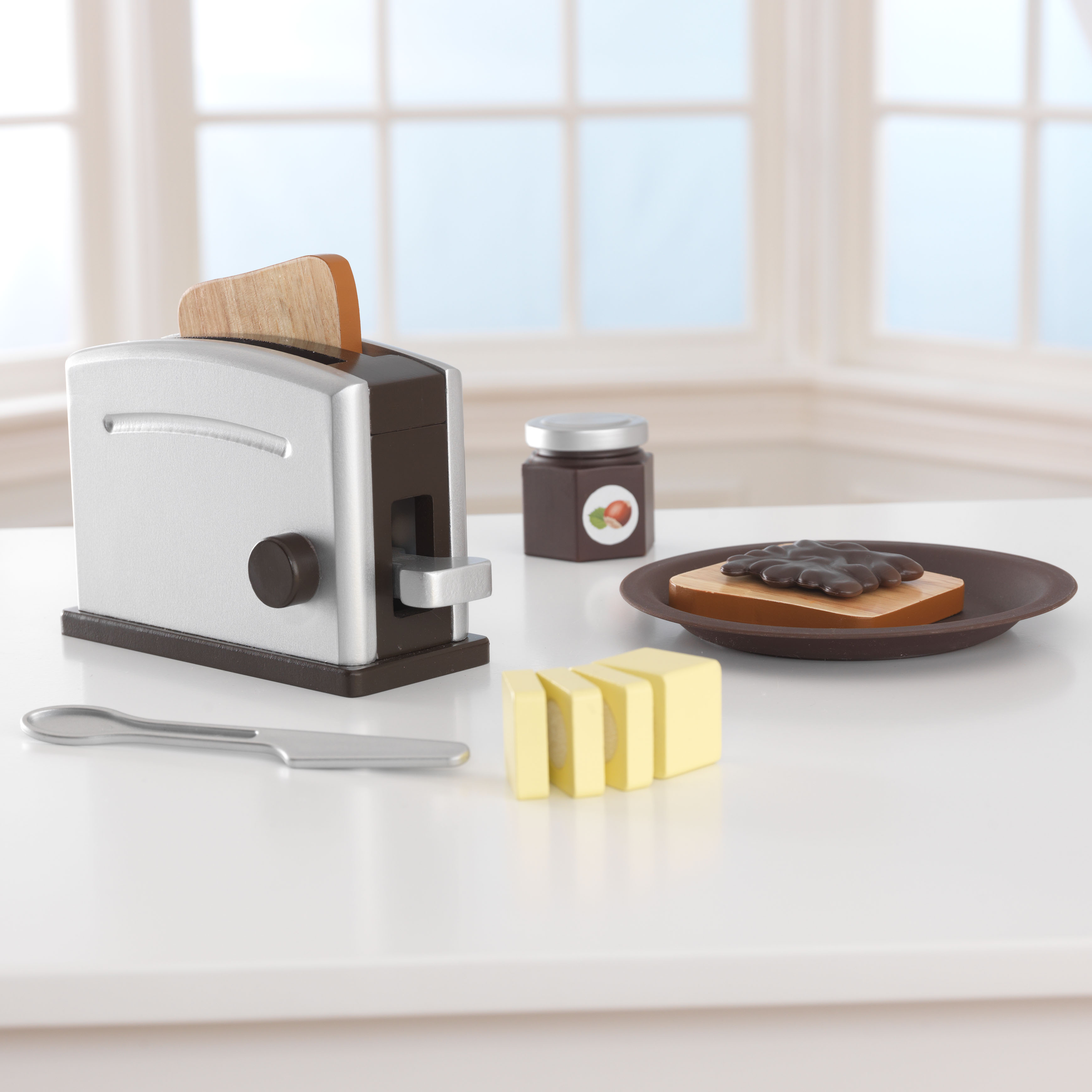 Kidkraft toaster sæt - espresso , 2 stk. på lager fra Kidkraft fra pixizoo