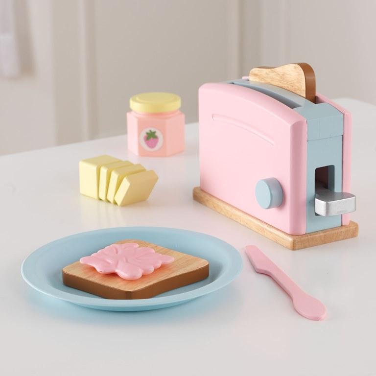 Kidkraft Kidkraft toaster sæt - pastel , 2 stk. på lager på pixizoo