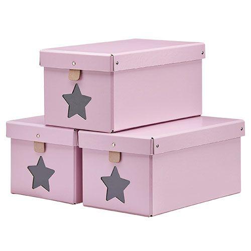 Kids Concept Förvaringslådor 3-pack - Rosa