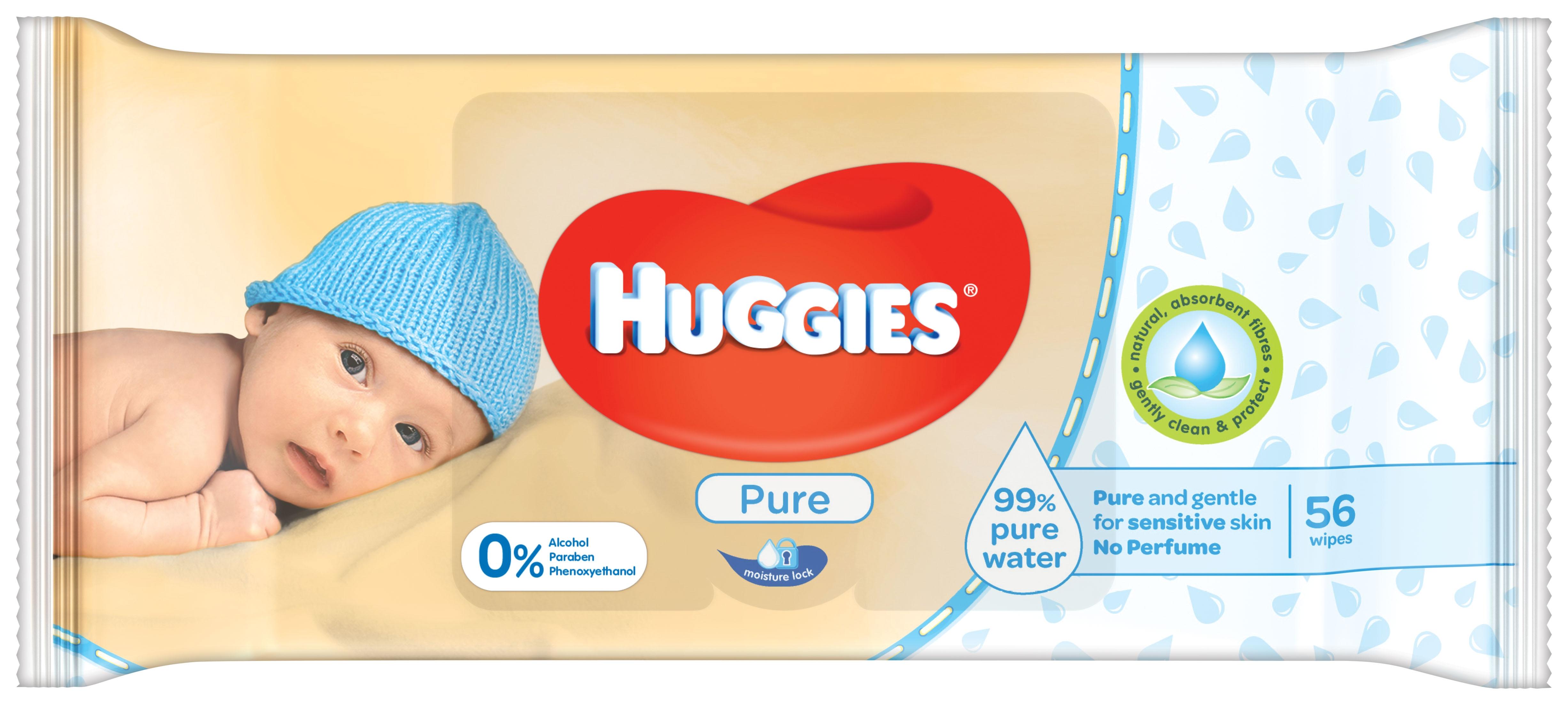 Huggies Pure Våtservetter