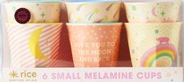 Rice Universum Melaminkoppar 6-pack - Rosa