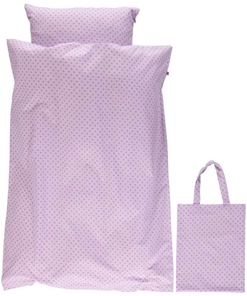 Småfolk Junior Bäddset Micro Äpplen - Lavender