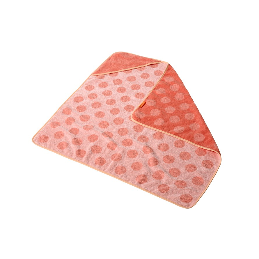 Leander Matty Hoodie Badhandduk Huva - Coral/Pink