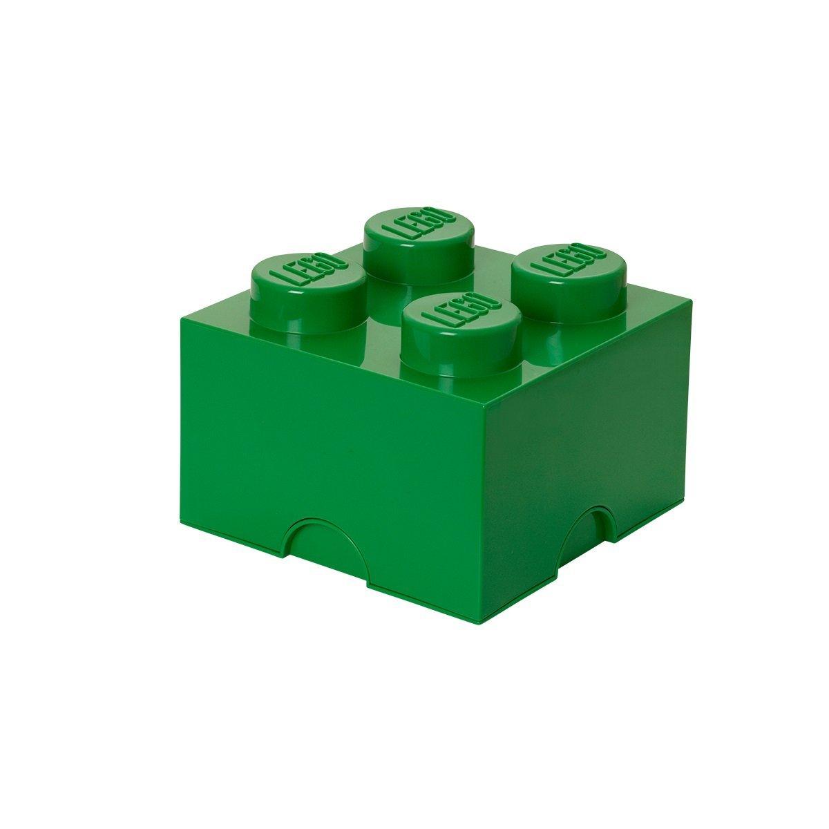 Lego opbevaringskasse 4 - grøn, +10 stk. på lager fra Lego på pixizoo