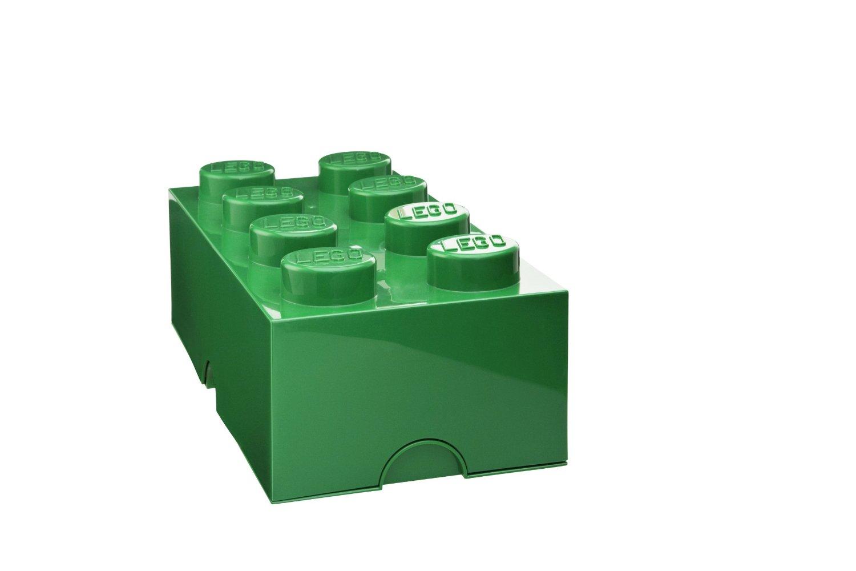 Lego – Lego opbevaringskasse 8 - grøn, +10 stk. på lager på pixizoo