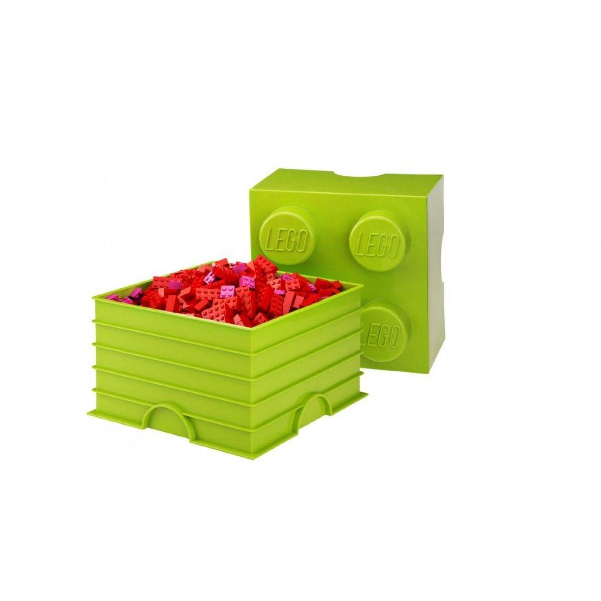 Lego opbevaringskasse 4 - limegrøn, +10 stk. på lager fra Lego fra pixizoo