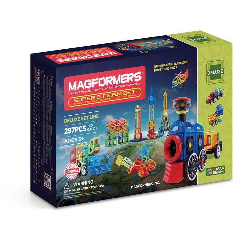 Magformers super s.t.e.a.m sæt (297 brikker), 2 stk. på lager fra Magformers fra pixizoo