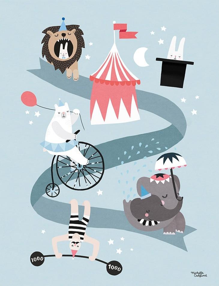 Michelle Carlslund Plakat 30 x 40 - Cirkus Vänner
