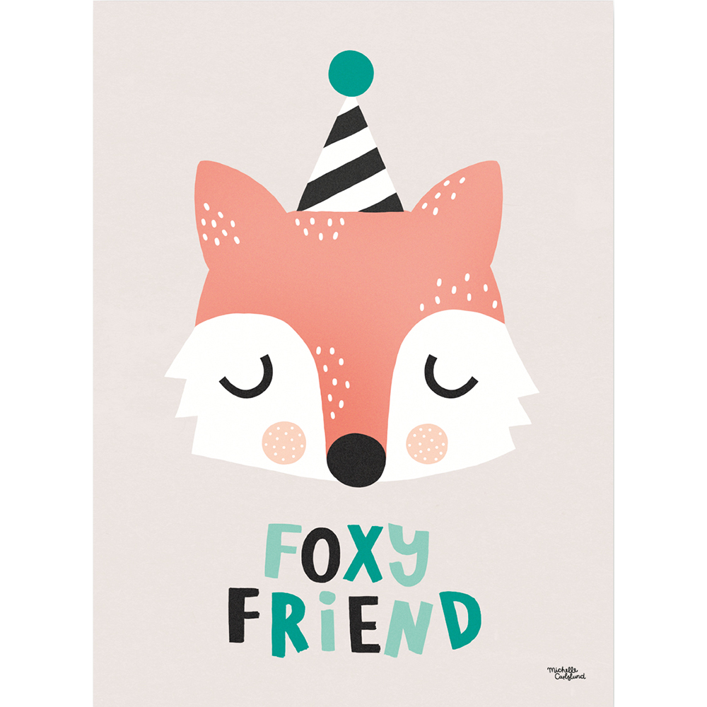 Michelle Carlslund Plakat 50 x 70 - Räv vän