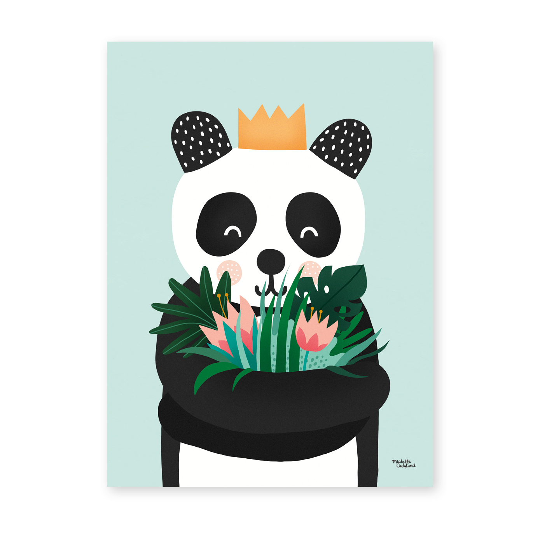 Michelle Carlslund Plakat 30 x 40 - Panda