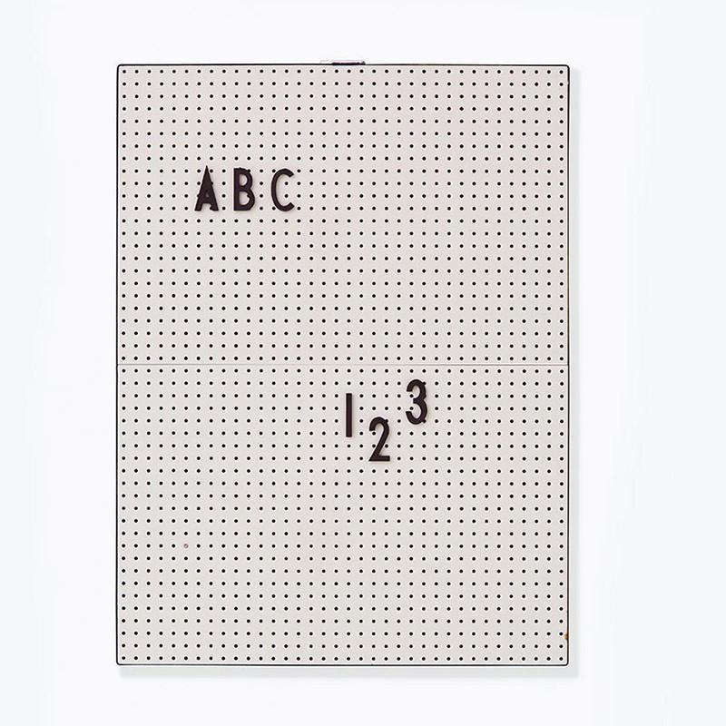 Designletters message board a4 - grå, 6 stk. på lager fra Designletters fra pixizoo