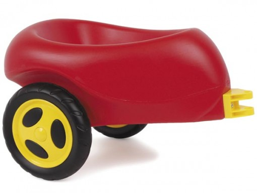 Dantoy Släpvagn med Plasthjul - Röd