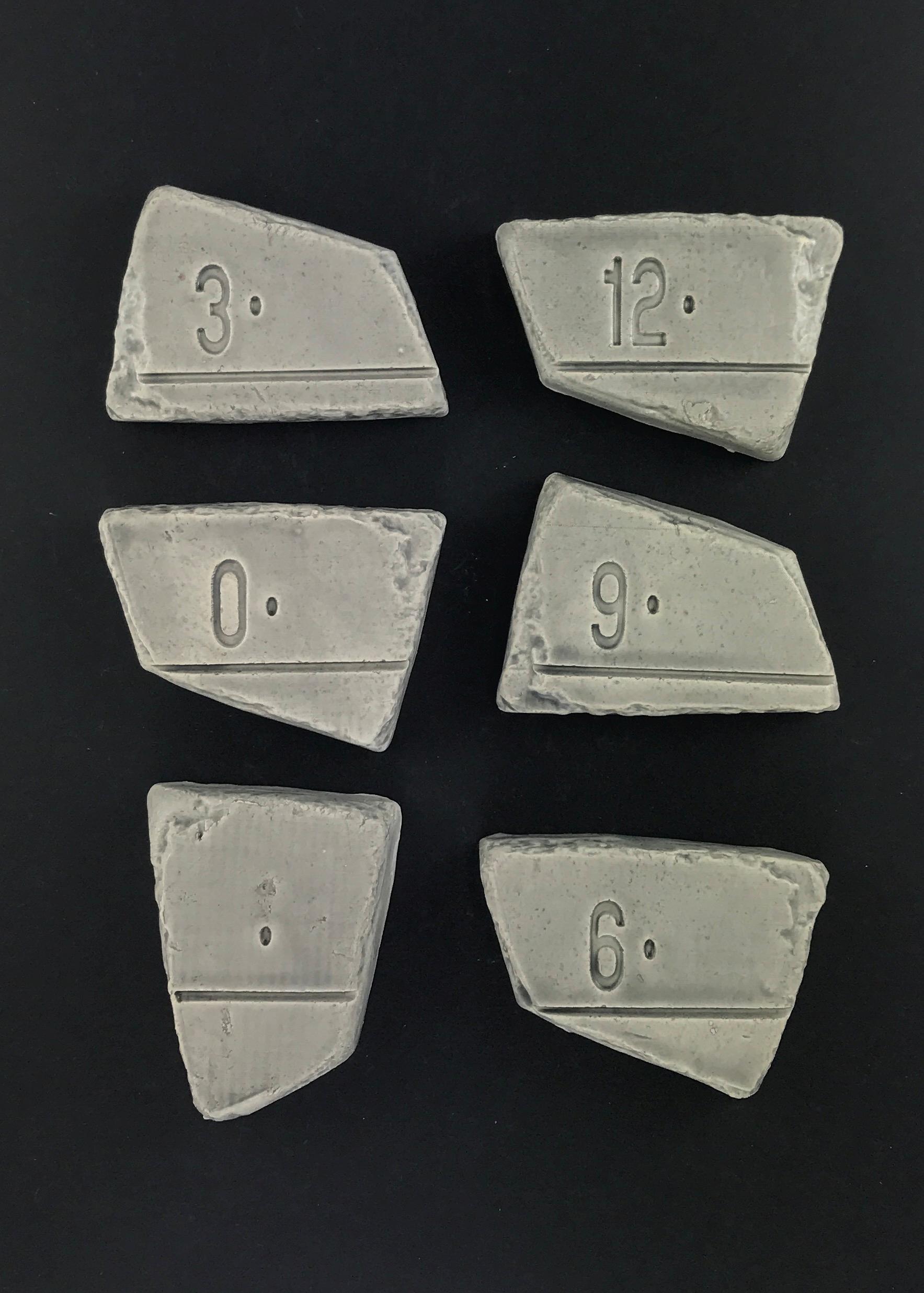 Vingl målværk mini - lysgrå målestok, 8 stk. på lager fra Vingl fra pixizoo