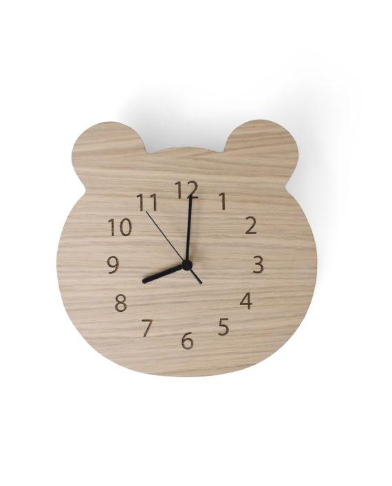 Maseliving Bjørne ur (egetræ) - maseliving, 2 stk. på lager på pixizoo