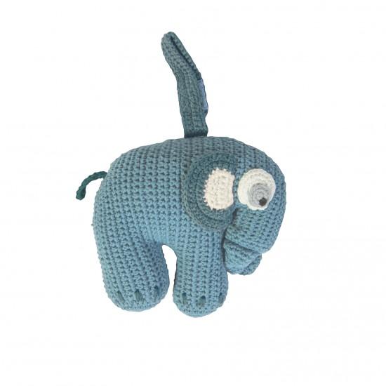 Sebra Elefant Speldosa - Blå