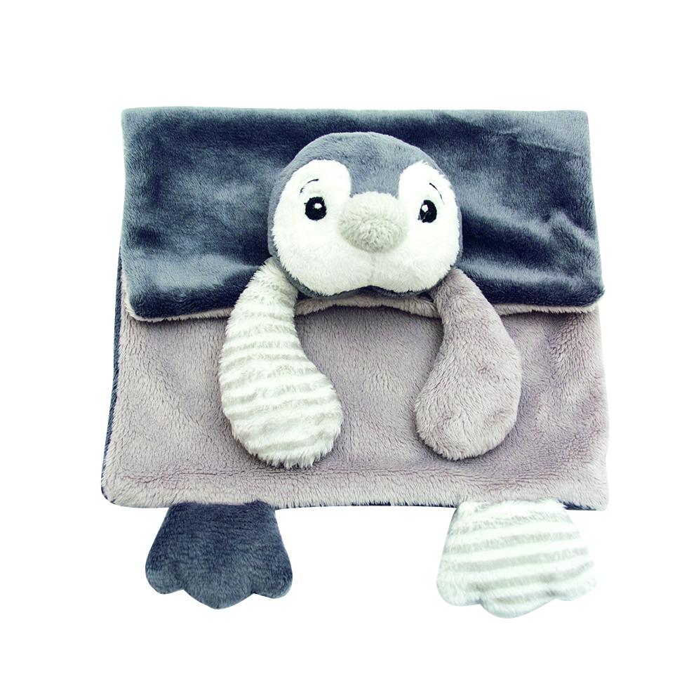 My Teddy Pingvin Filt - Grå