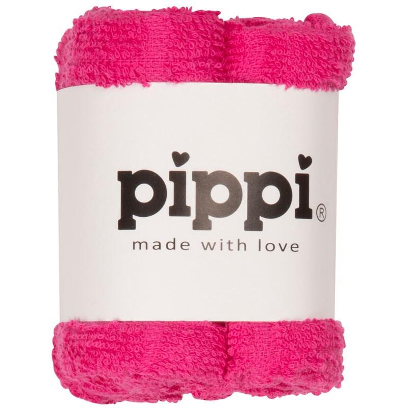 Pippi Tvättlapp 4-pack - Rosa