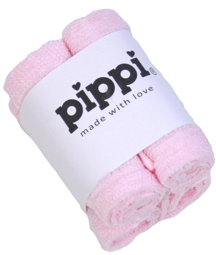 Pippi Tvättlappar 4-pack - Light Rose