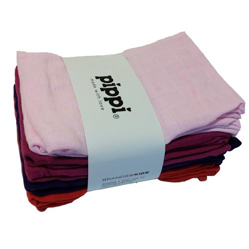 Pippi Muslinfilt 8-pack - Paradise Pink