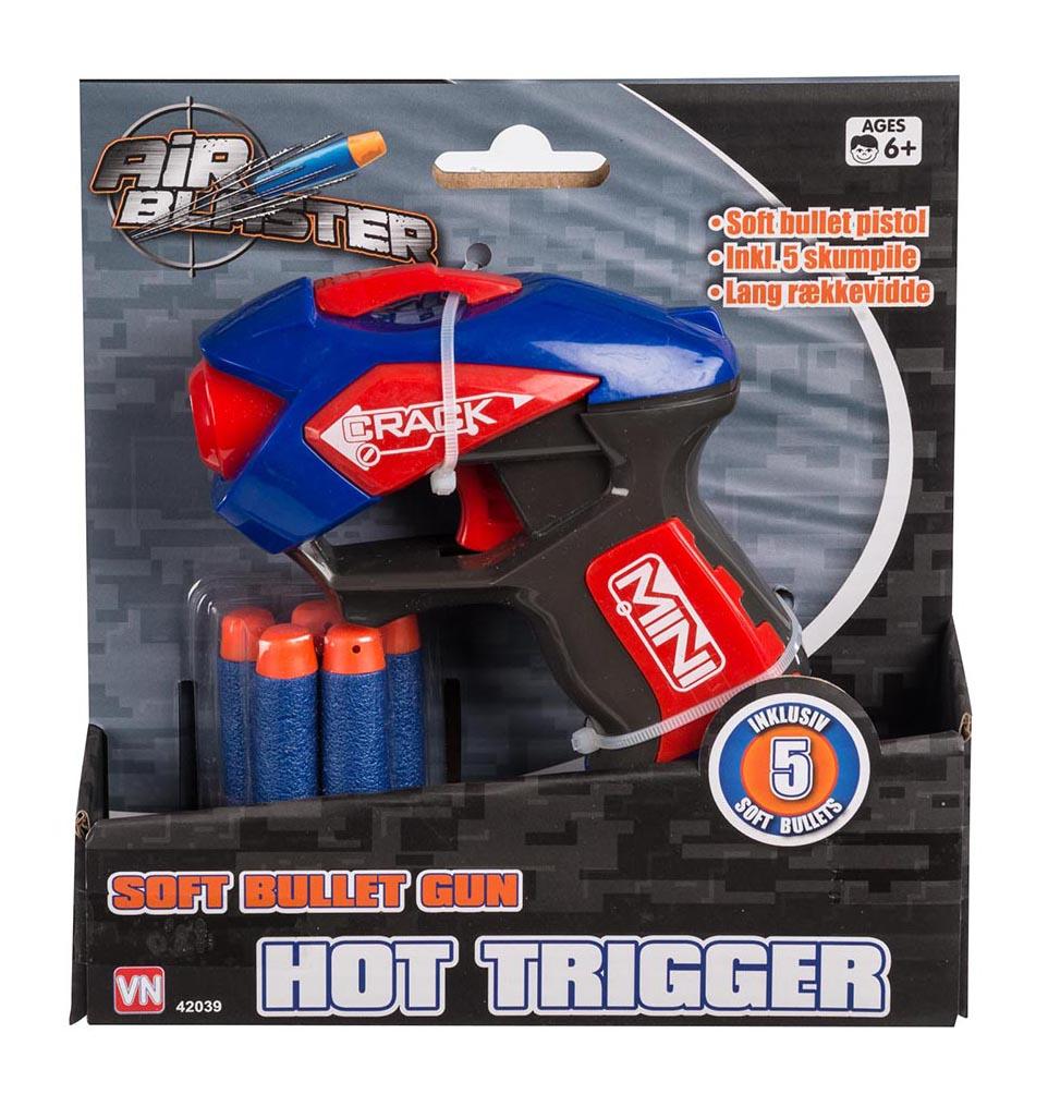 Air blaster Air blaster soft bullet pistol m 5 pile, +10 stk. på lager fra pixizoo