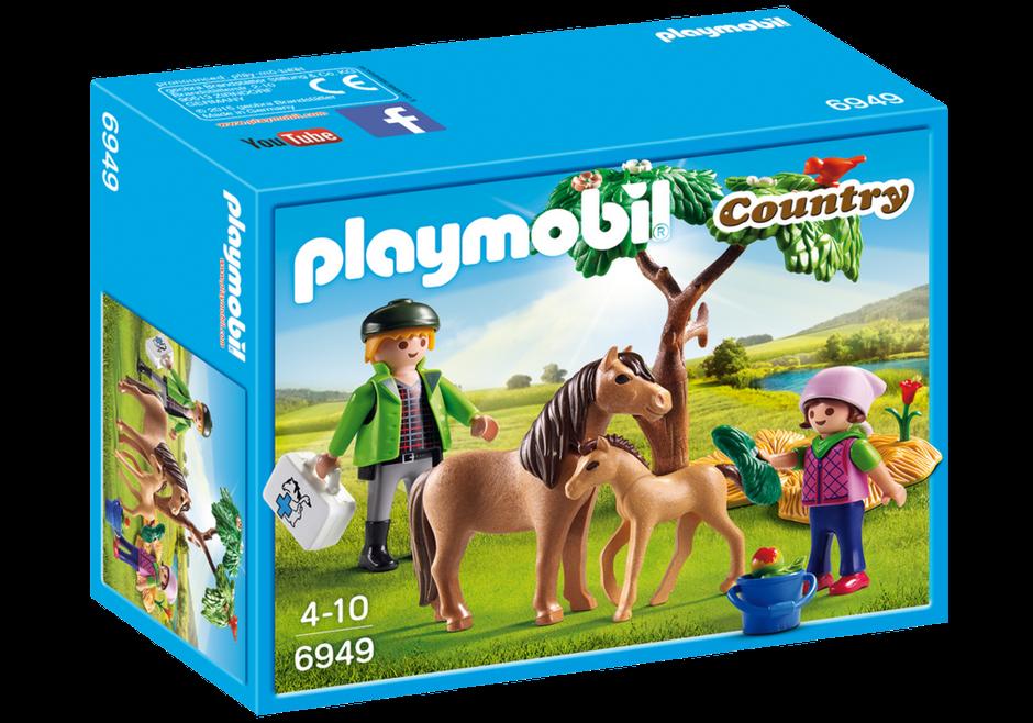 Playmobil Country (6949) Veterinär med Ponny och Föl