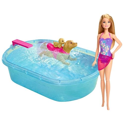 Barbie – Barbie hundebad m. dukke, 1 stk. på lager på pixizoo