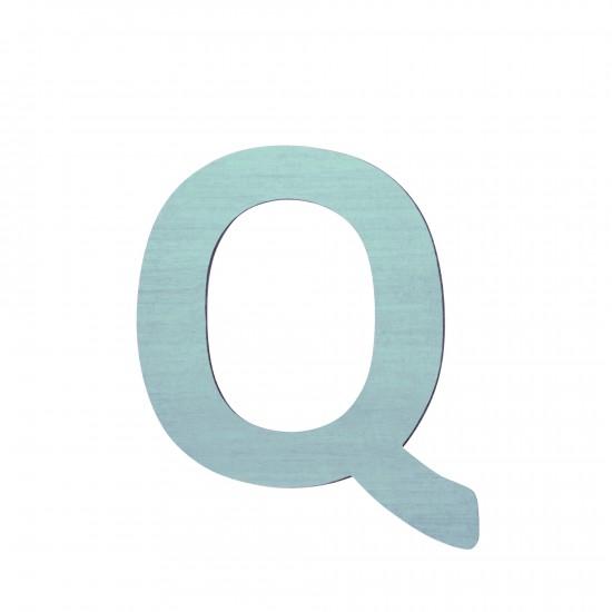 Sebra Träbokstav Q - Blå
