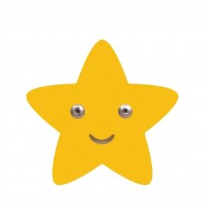 Roommate Stjärna Krok - Gul