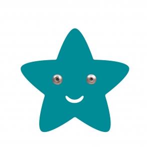 Roommate Stjärna Krok - Blå