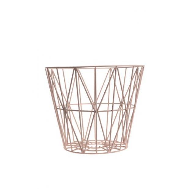 Ferm living wire basket - rosa - large, 1 stk. på lager fra Ferm living på pixizoo