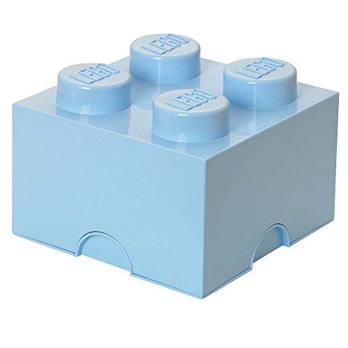 Lego – Lego opbevaringskasse 4 - lyseblå, +10 stk. på lager fra pixizoo