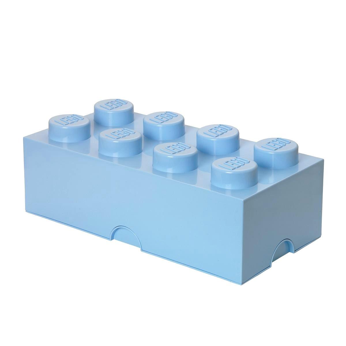 Lego opbevaringskasse 8 - lyseblå, +10 stk. på lager fra Lego fra pixizoo