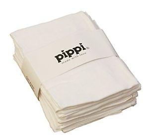 Hvide 8-pak 70x70 stofbleer - pippi, +10 stk. på lager fra Pippi på pixizoo