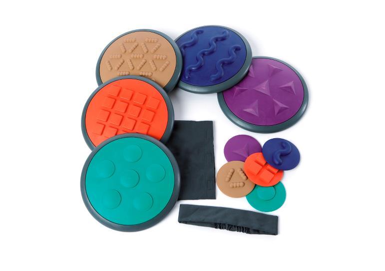 Gonge tactile discs sæt 2 - trædesten, 7 stk. på lager fra Gonge fra pixizoo