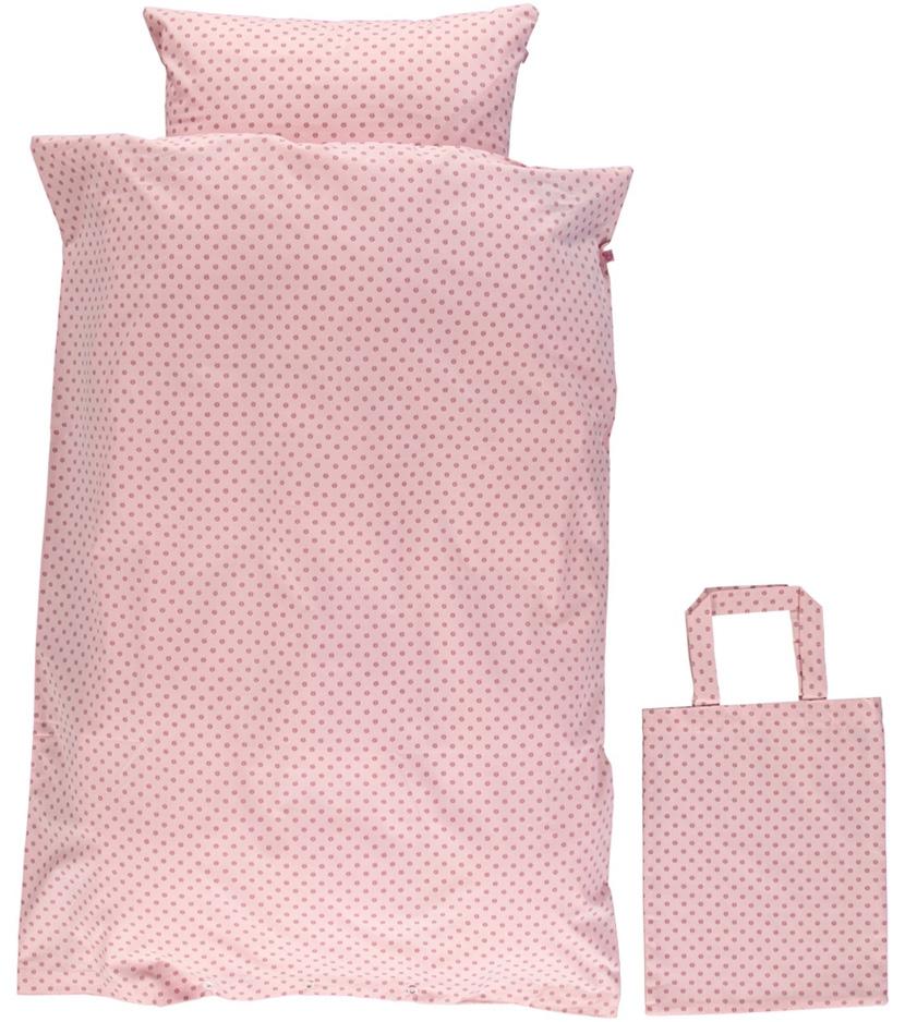 Småfolk Bäddset Vuxen Micro Äpplen - Silver Pink
