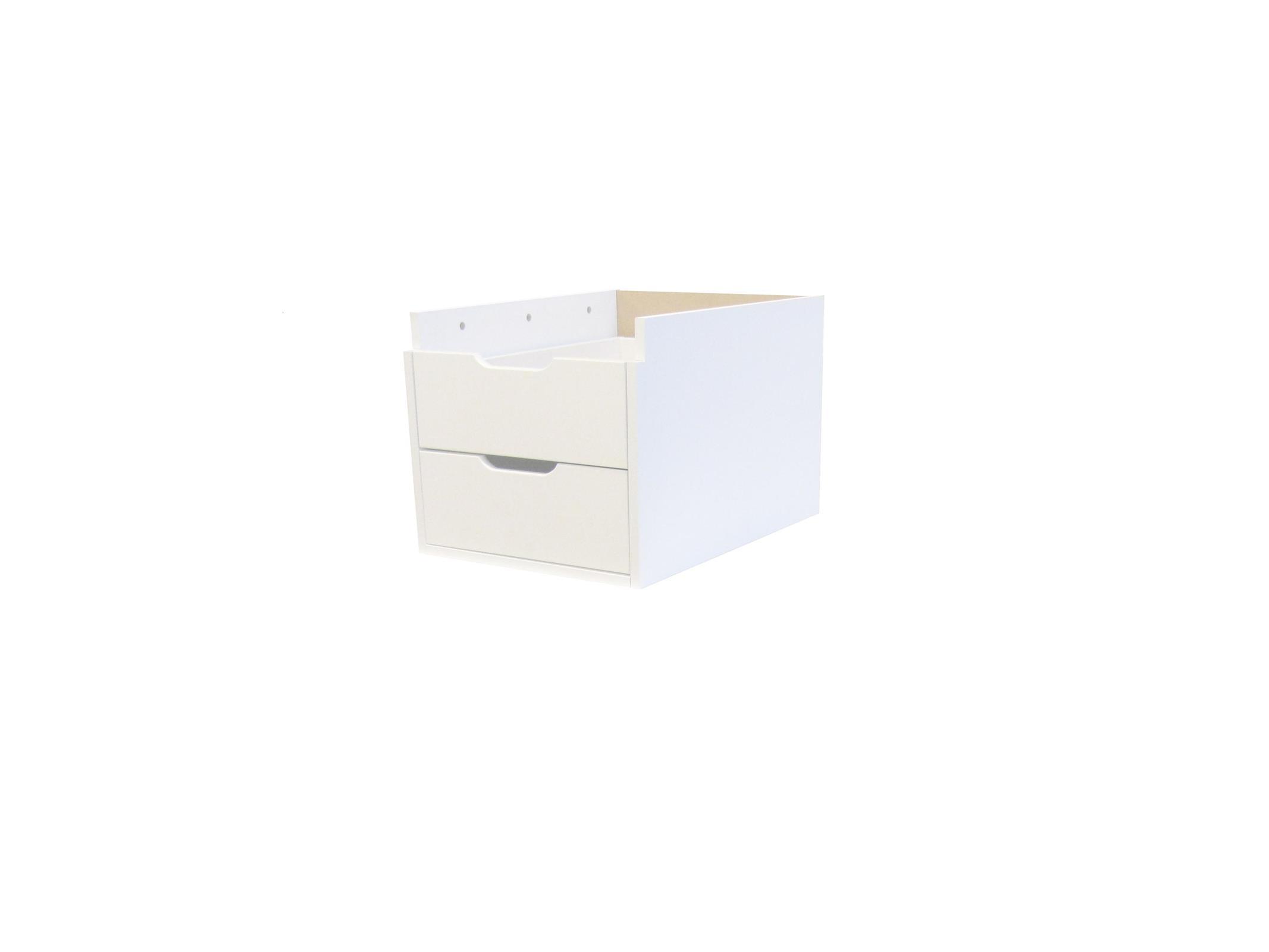 Hoppekids – Hoppekids maja skuffesektion m. 2 skuffer - hvid, 1 stk. på lager fra pixizoo