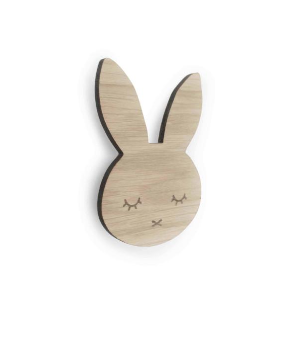Bunny sleepy knage (egetræ), 6 stk. på lager fra Maseliving fra pixizoo