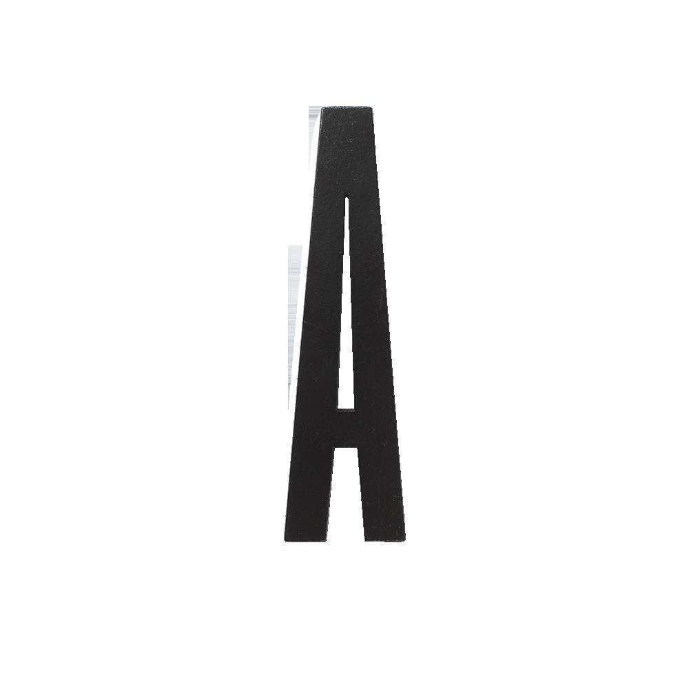 Designletters Design letters black wooden letters - a, 5 stk. på lager på pixizoo