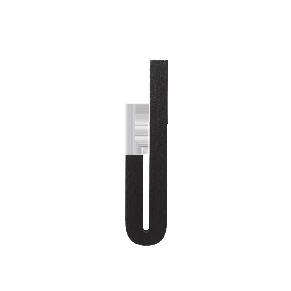 Design Letters Trä Bokstav J - Svart