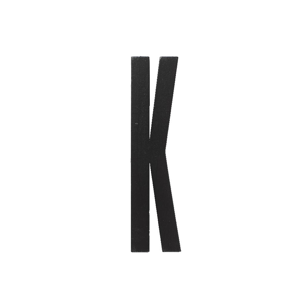 Designletters – Design letters black wooden letters - k, 5 stk. på lager fra pixizoo
