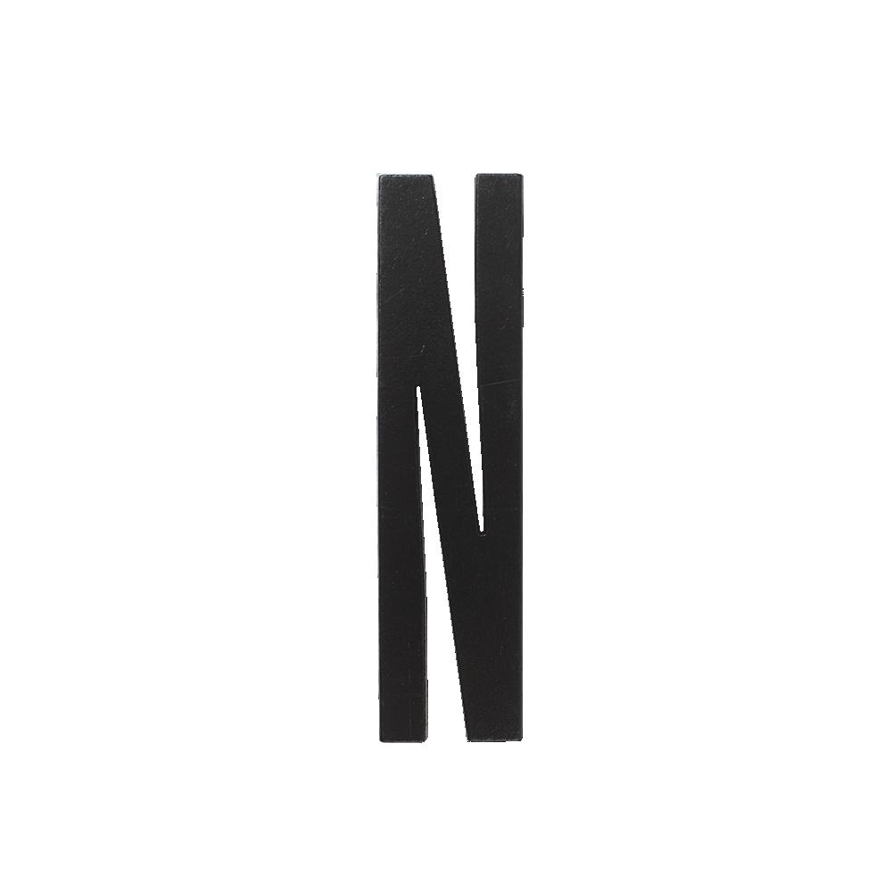 Design Letters Trä Bokstav N - Svart