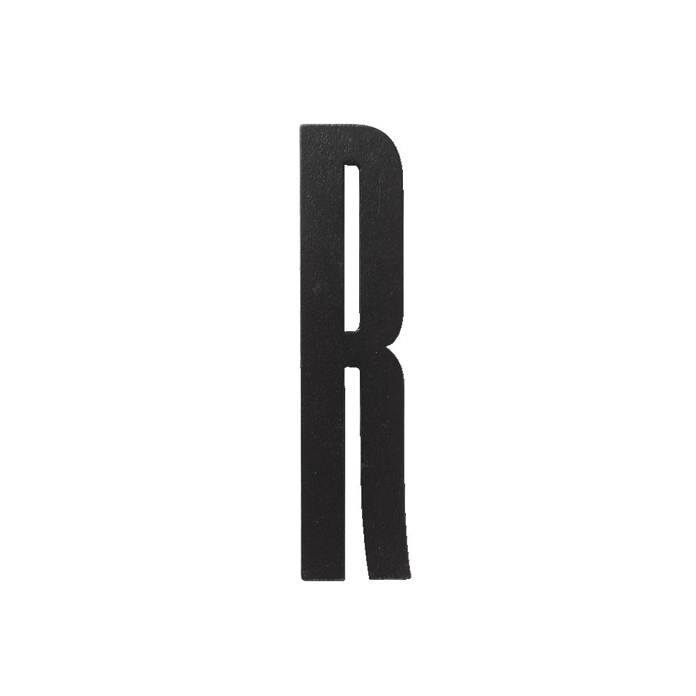 Design Letters Trä Bokstav R - Svart