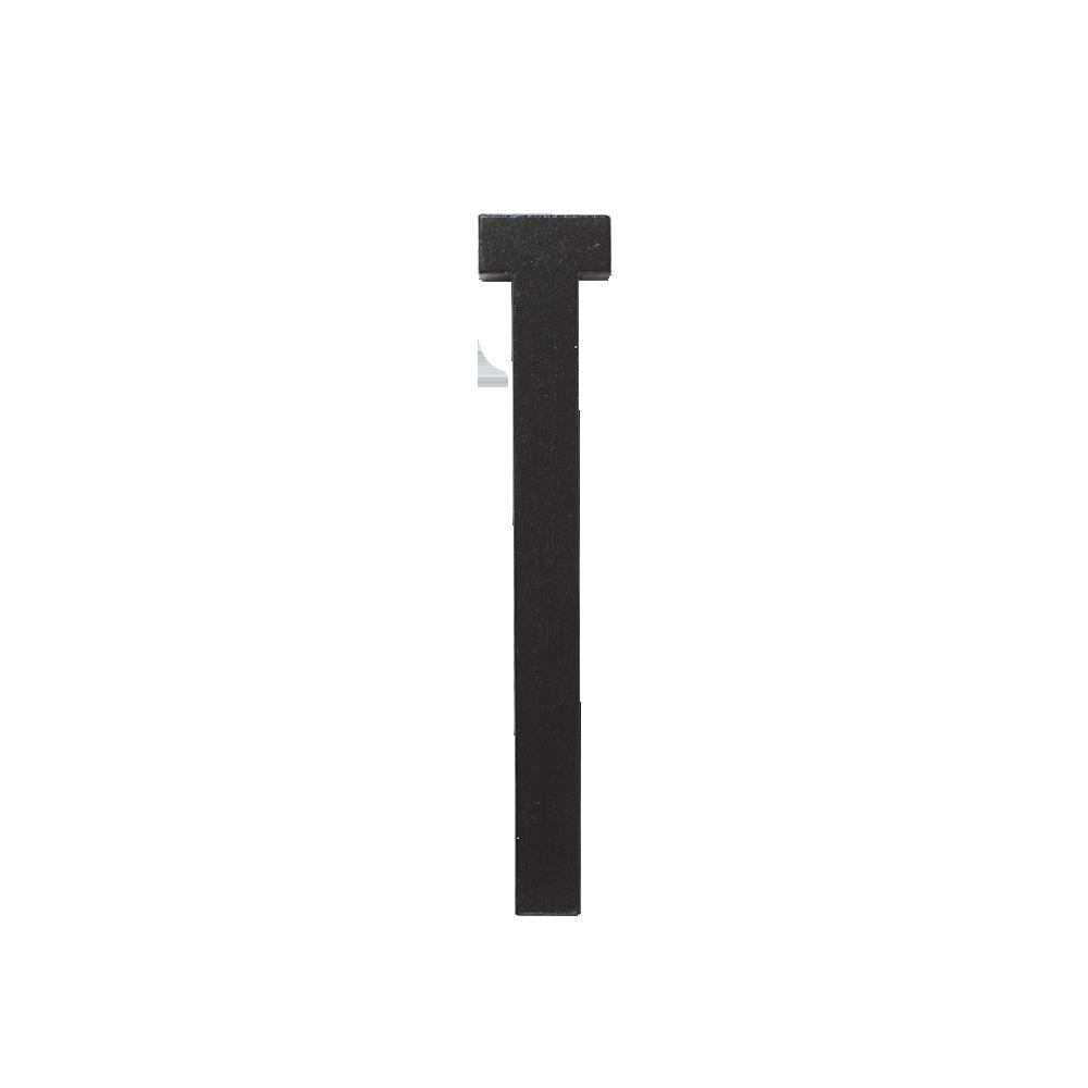 Designletters – Design letters black wooden letters - t, 1 stk. på lager fra pixizoo