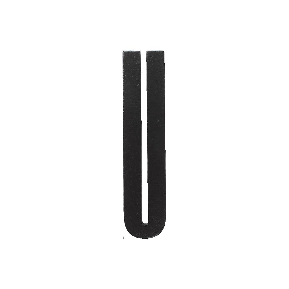 Designletters – Design letters black wooden letters - u, 2 stk. på lager på pixizoo