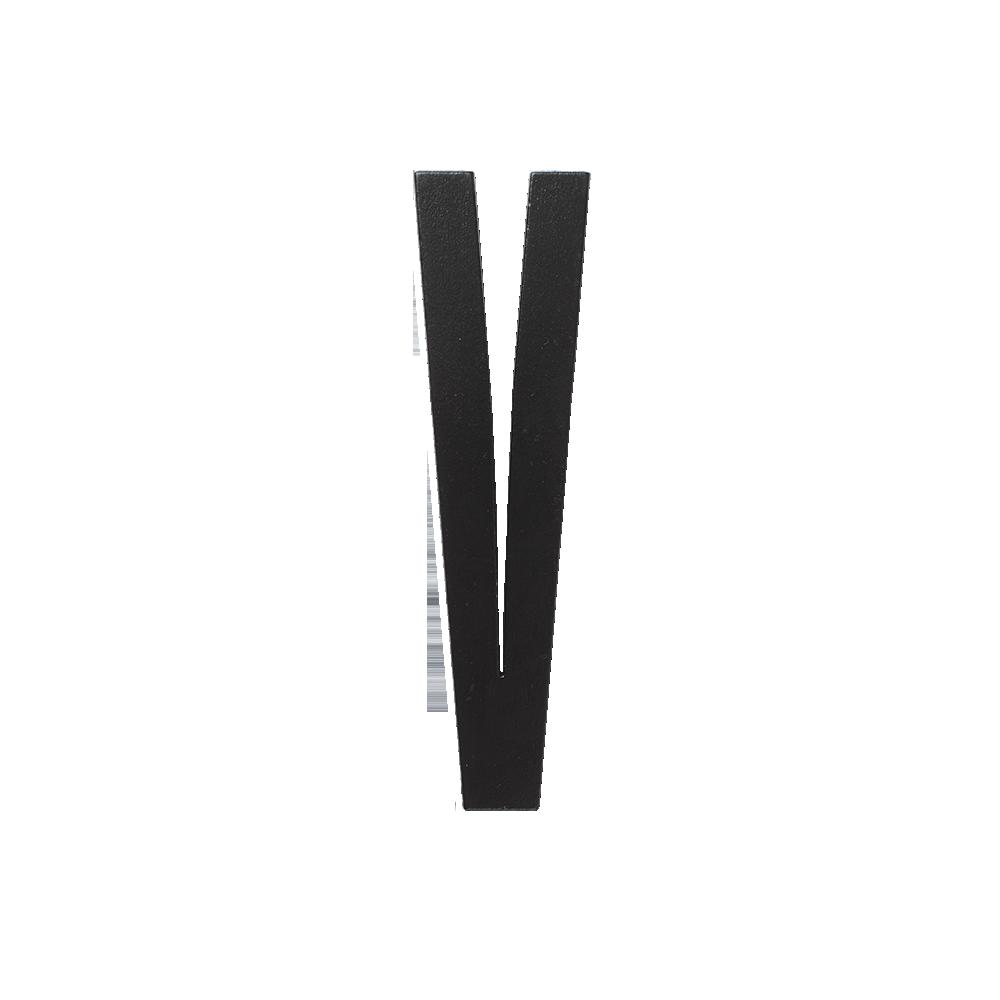 Designletters – Design letters black wooden letters - v, 8 stk. på lager fra pixizoo