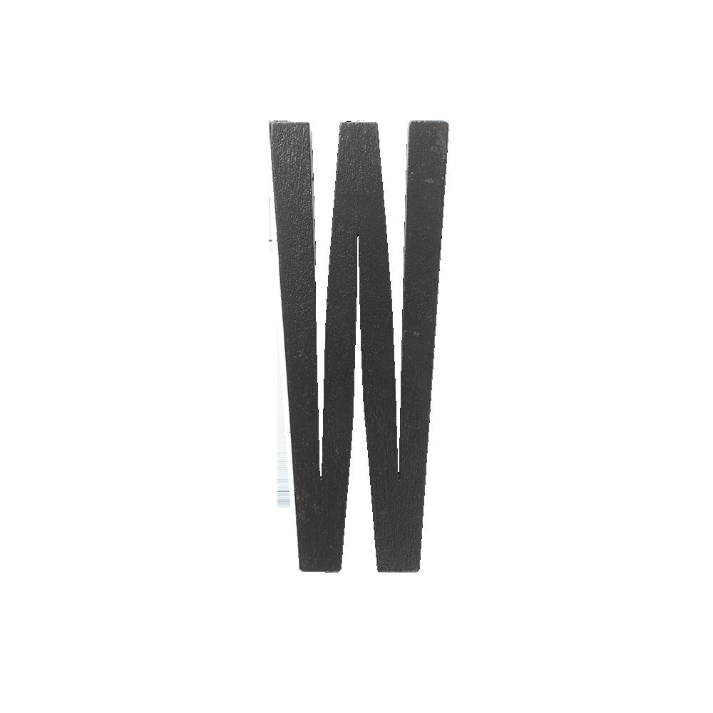 Design Letters Trä Bokstav W - Svart