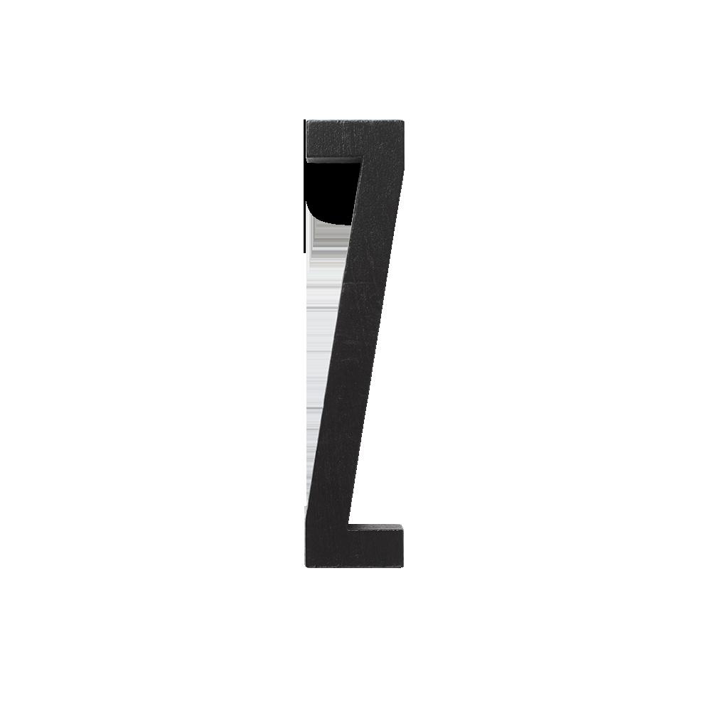 Design Letters Trä Bokstav Z - Svart