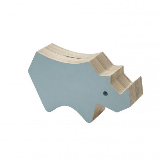 Sebra Sparbössa Noshörning Trä - Cloud Blue