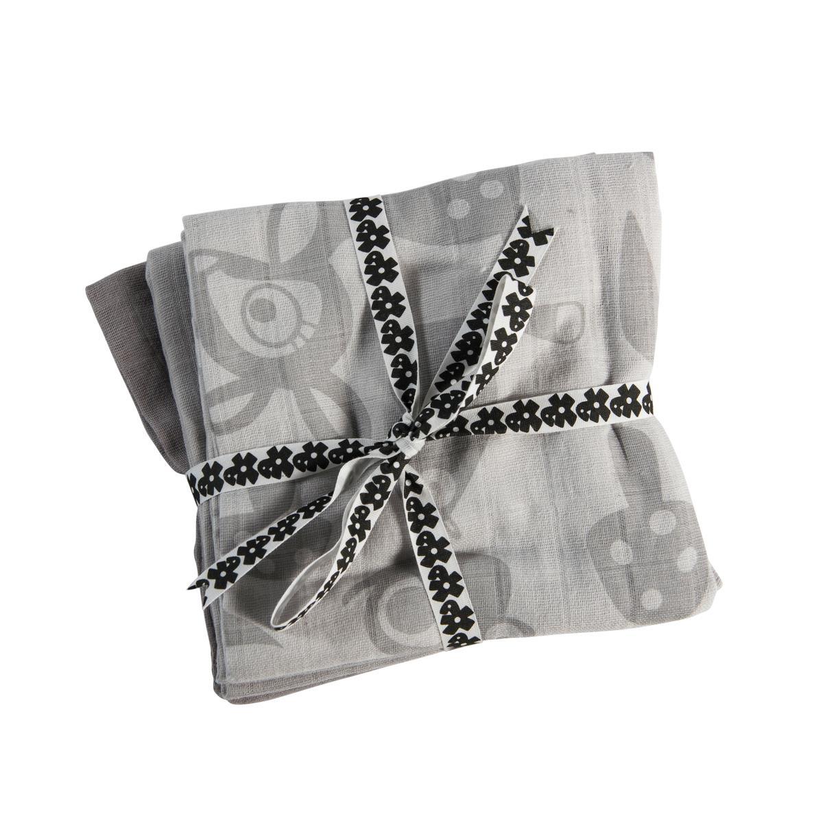 Sebra Forest Muslinfilt 3-pack - Grå